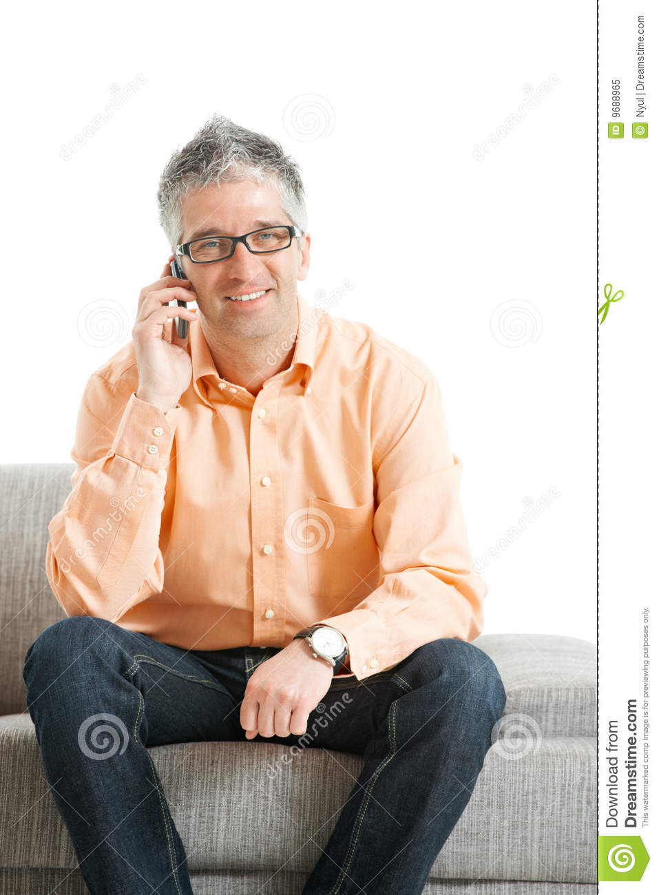 Man Talking On Mobile Phone Royalty Free Stock Photo
