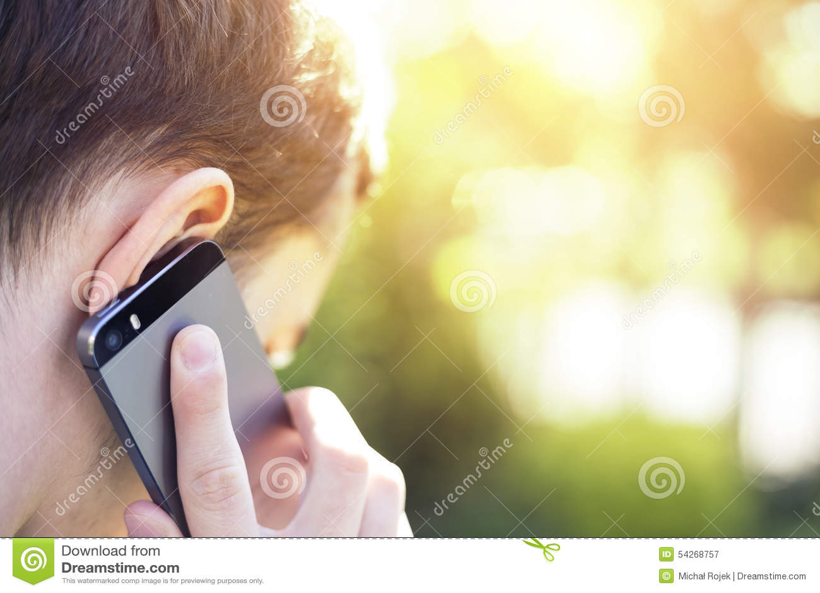 Man talking on the phone.