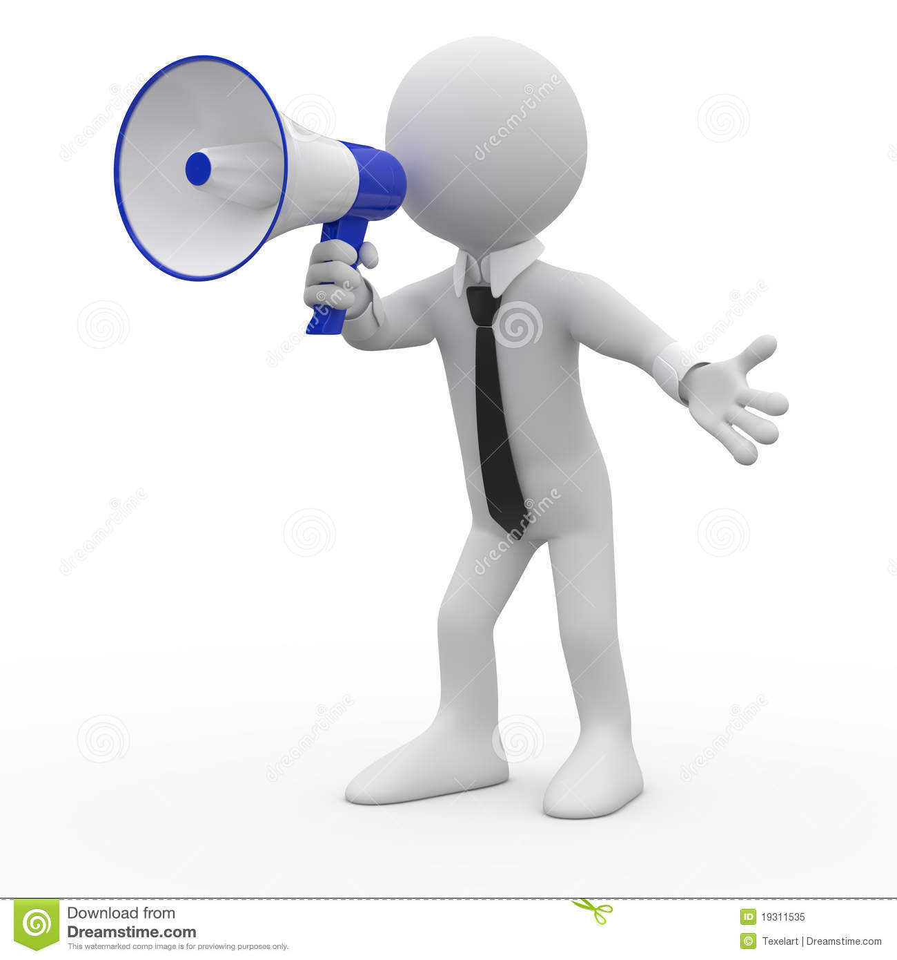 man talking on a white and blue megaphone royalty free megaphone clipart free free megaphone clipart images