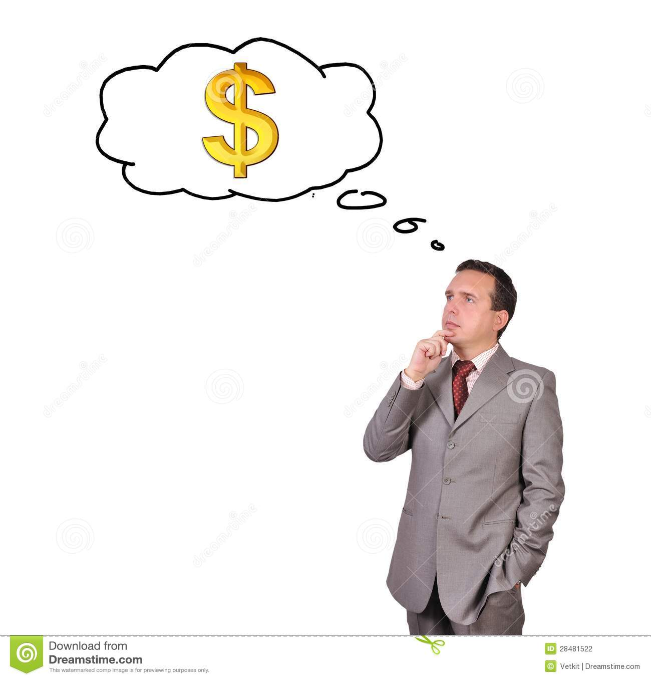 Man Thinking About Money Stock Photography - Image: 28481522