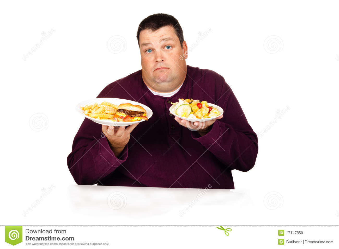 Dieting Thinking About Food