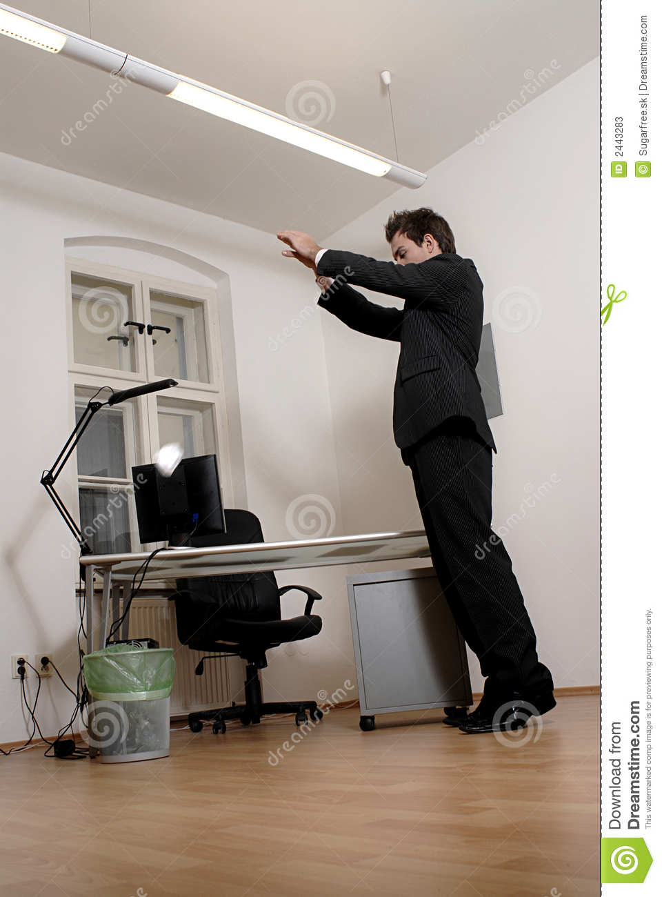 Man Throwing Paper Ball Stock Image Image Of Document