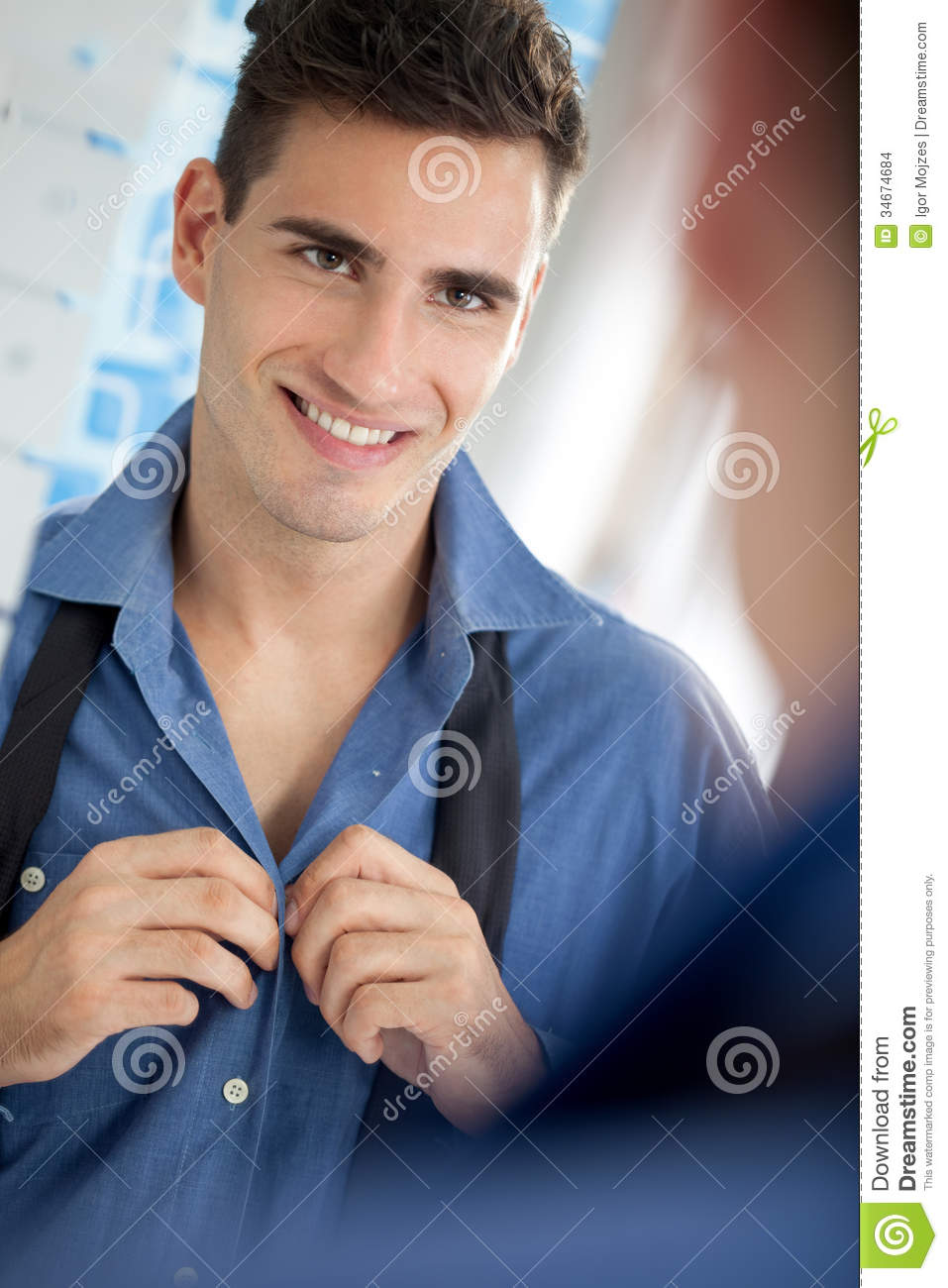Man To Get Dressed Stock Images Image 34674684