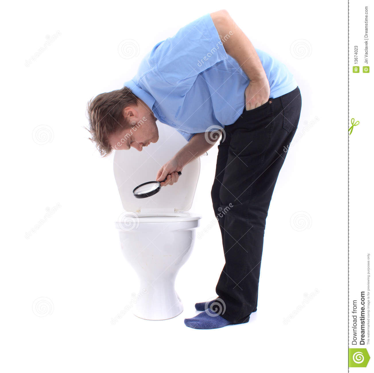 Man And The Toilet Stock Photos Image 13674023