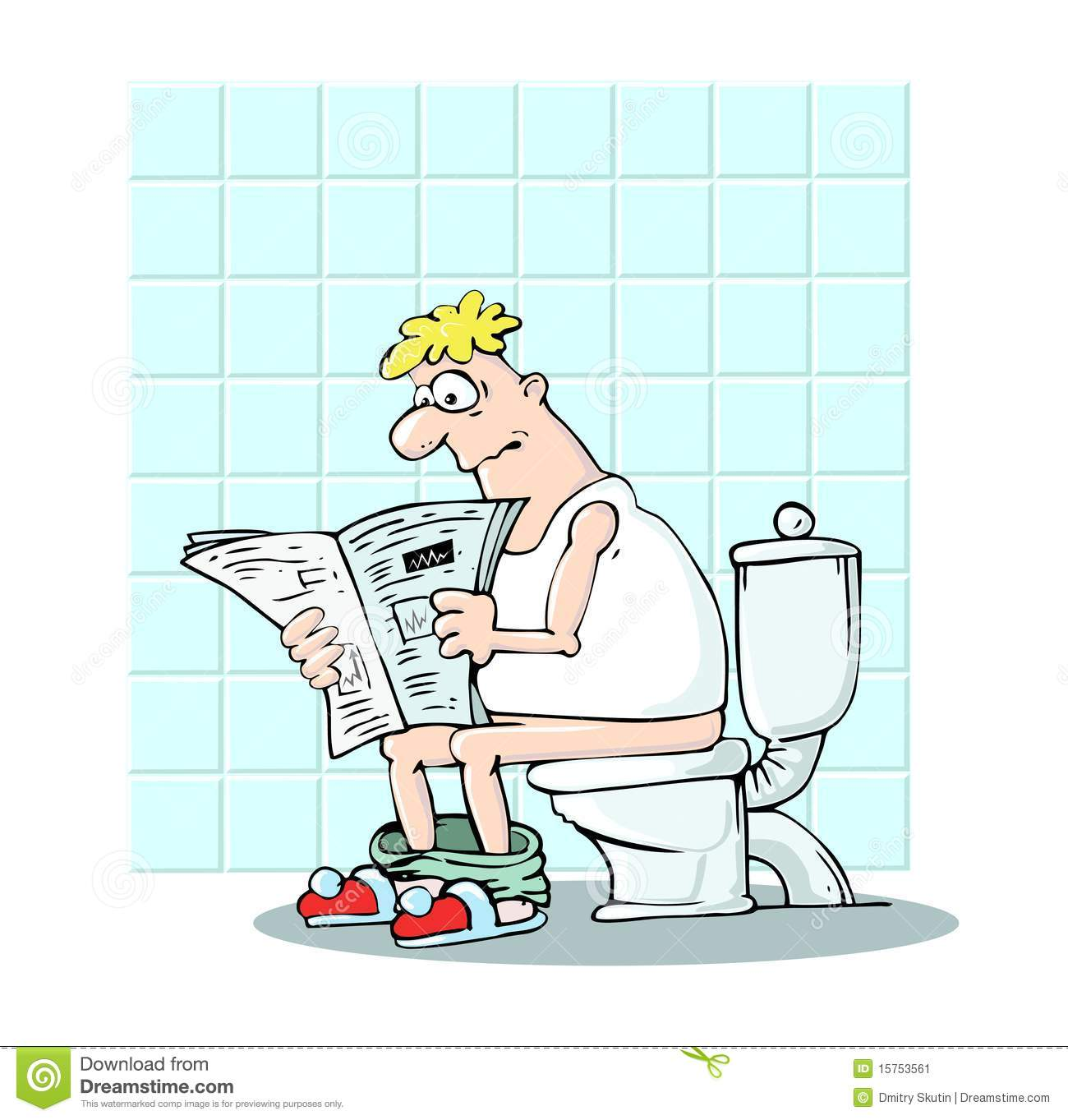 Man In Toilet Stock Image - Image: 15753561