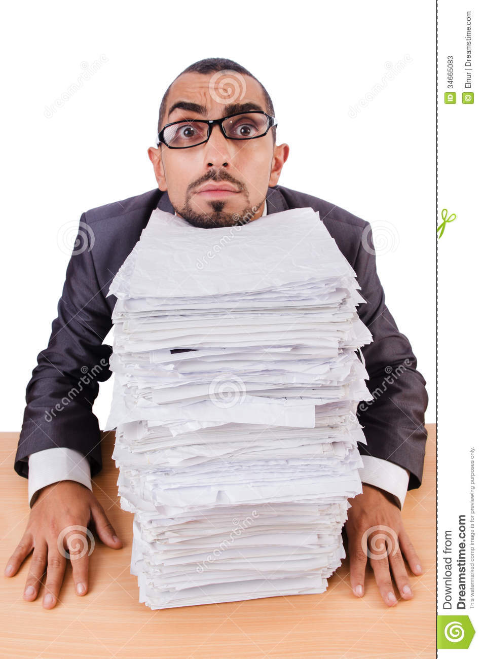 man too much work stock photos image  man too much work
