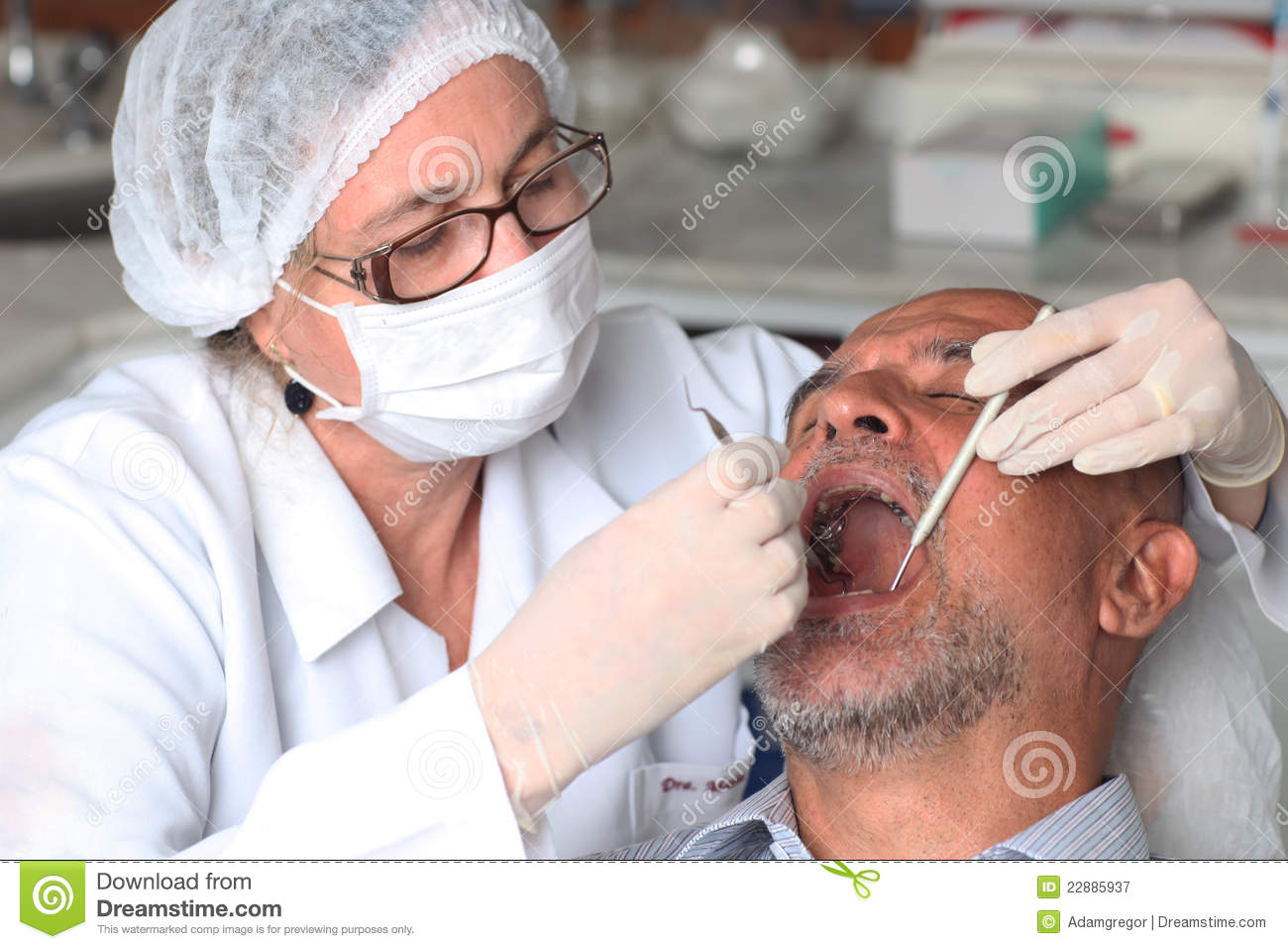 Man With Toothache At The Dentist Royalty Free Stock ...