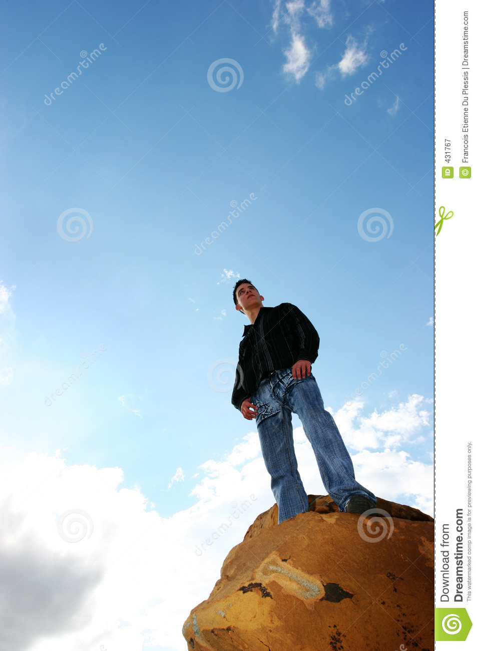 Man on top of the world