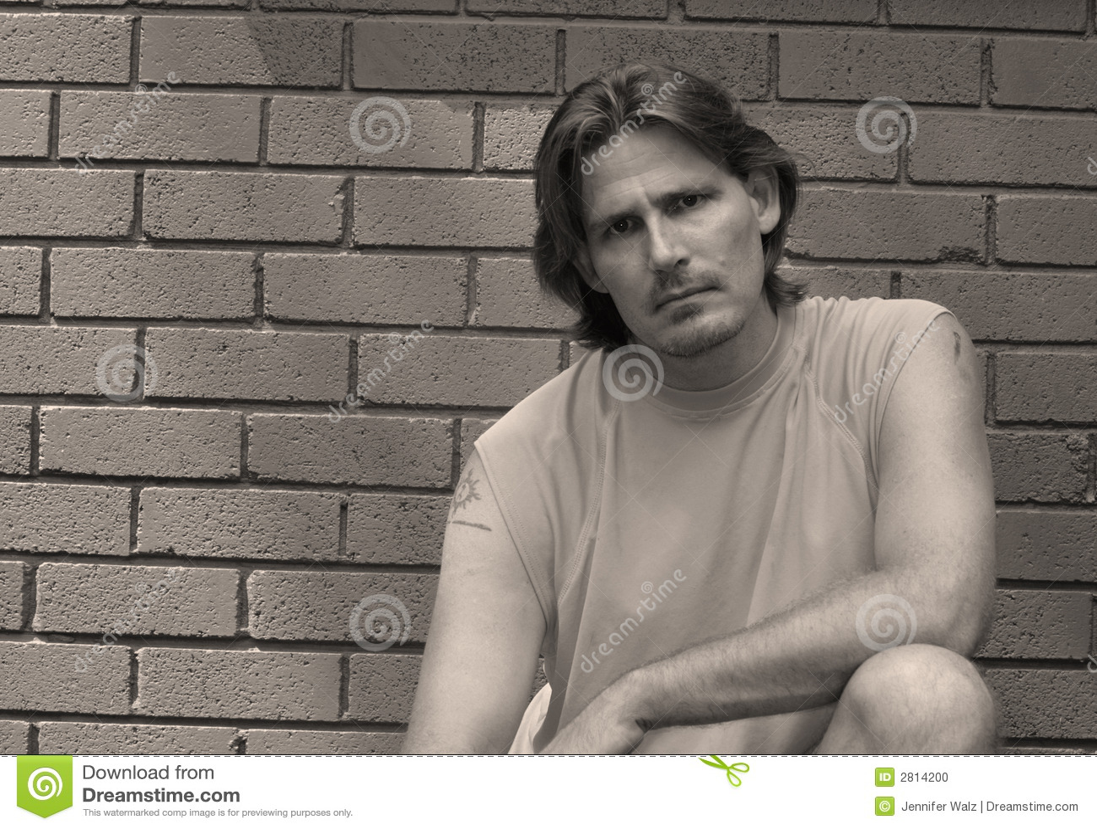 Man with Tough Look
