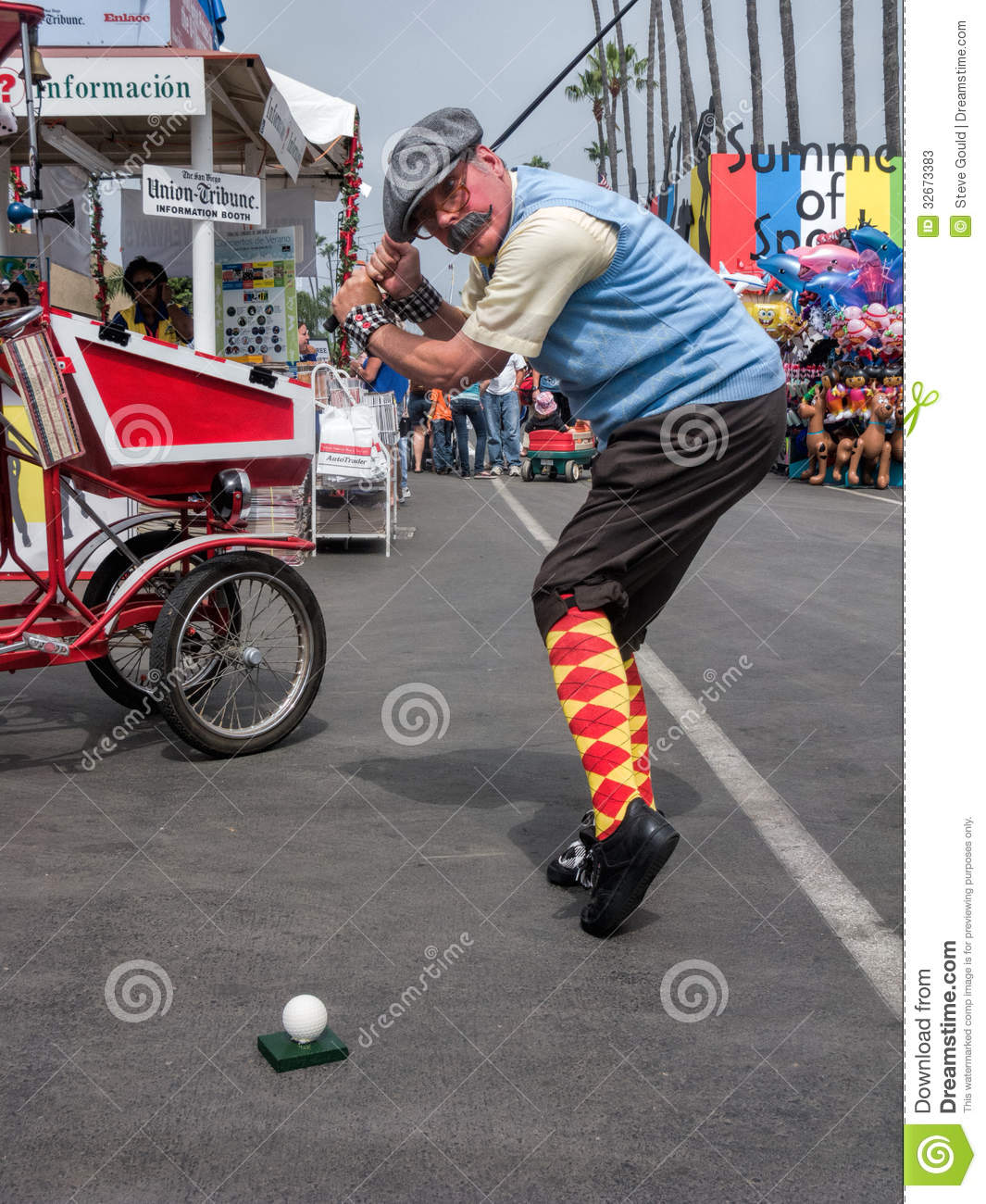 Man Traditional Golfer 39 S Costume County Fair Editorial Stock Photo Image 32673383