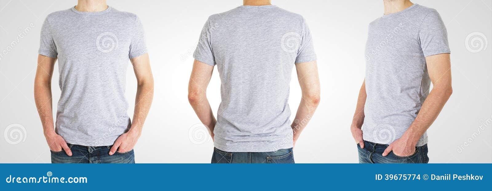 Man tre i t-skjorta