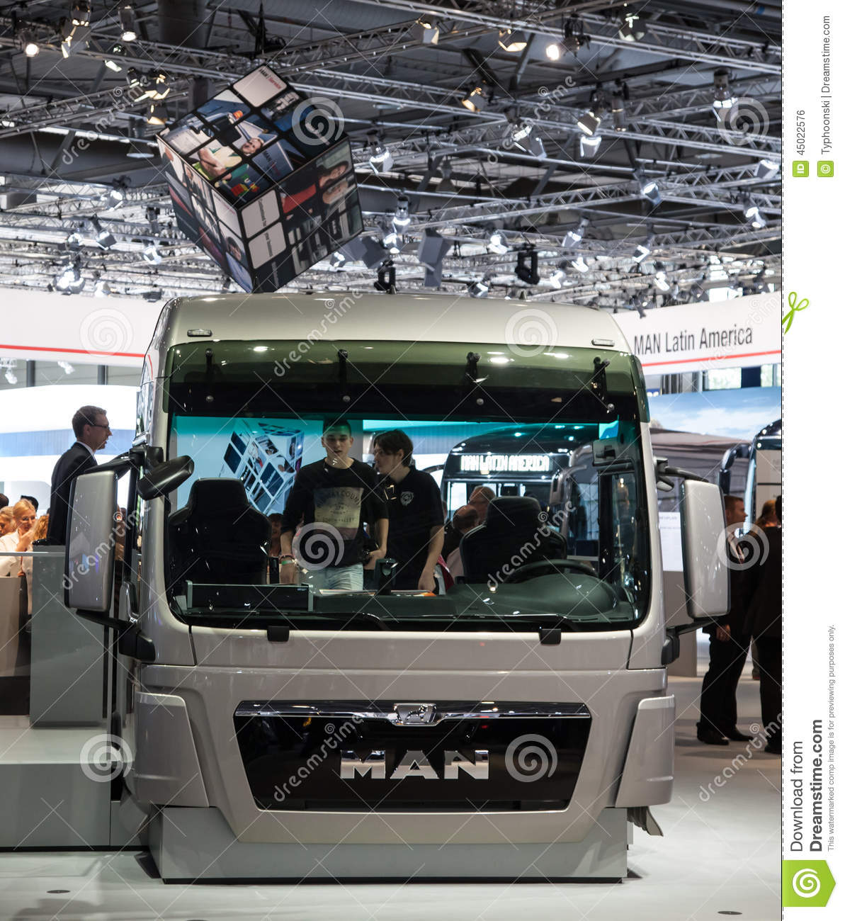b246cab67d MAN truck cabin at the 65th IAA Commercial Vehicles fair 2014 in Hannover