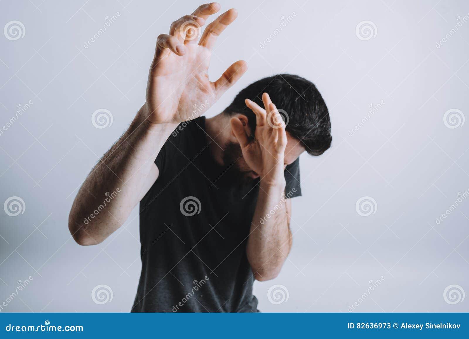Black white abusing himself
