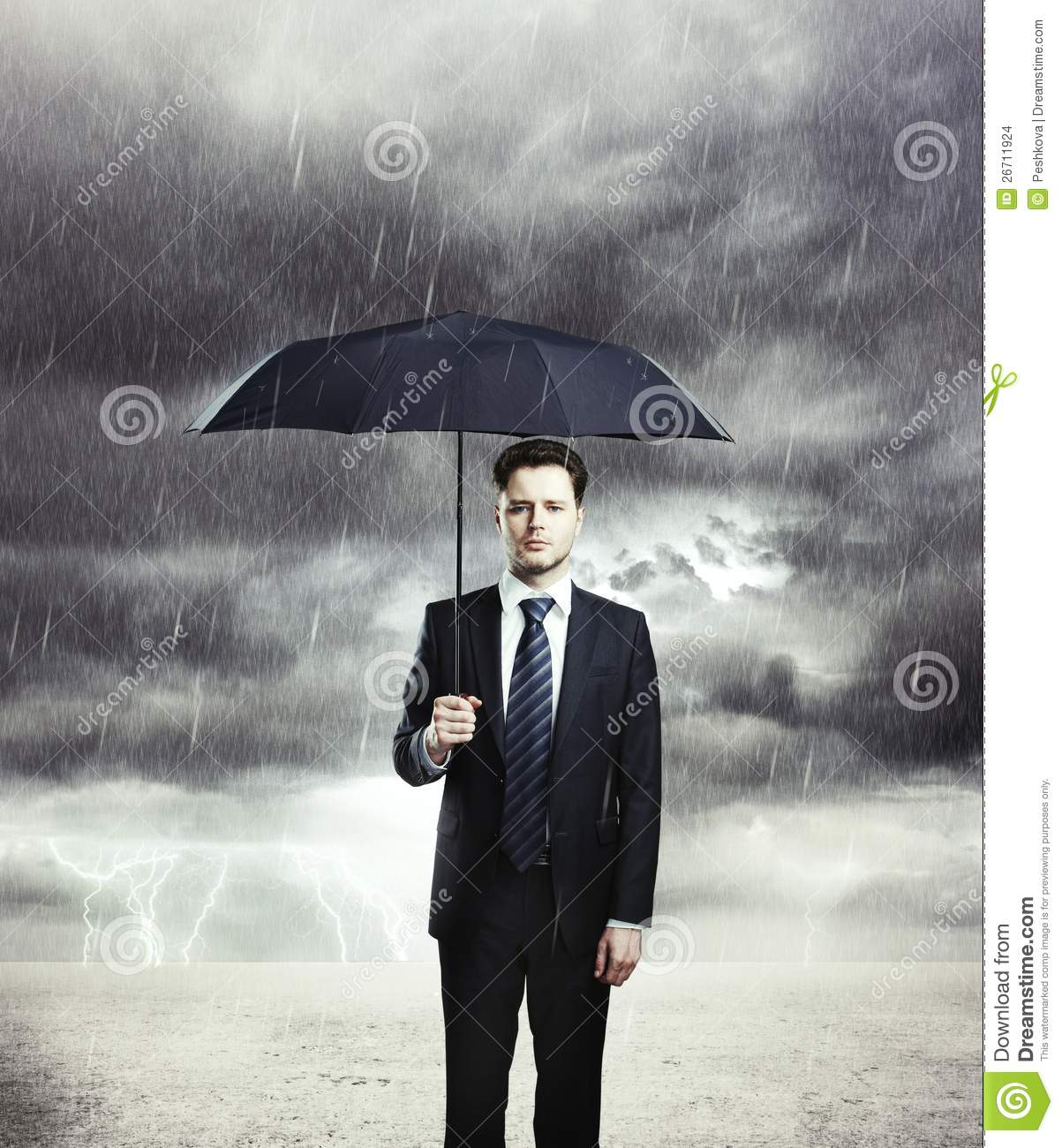man with umbrella stock photo image of cloud business 26711924