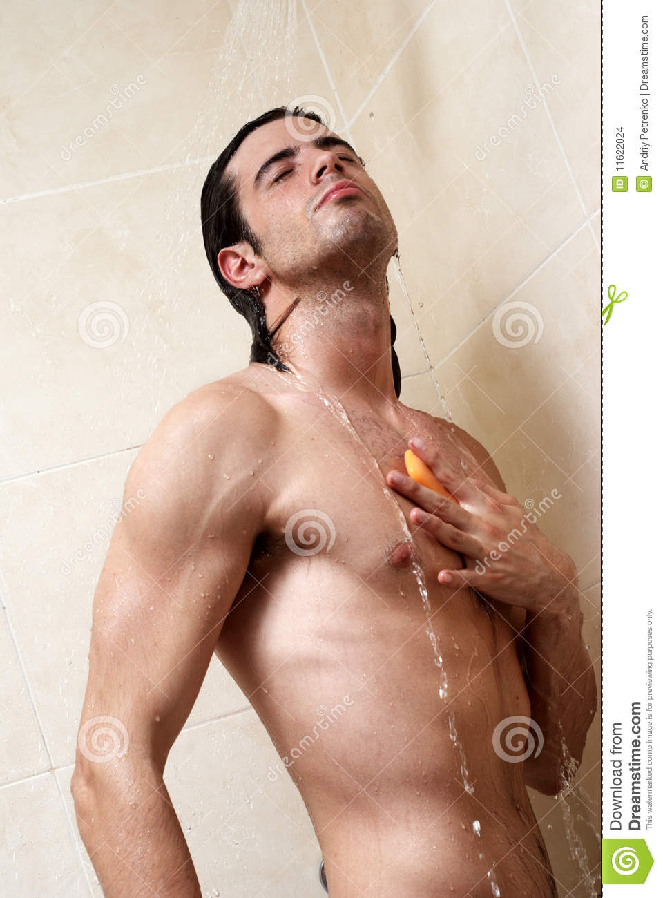 Man Under The Shower Stock Images Image 11622024