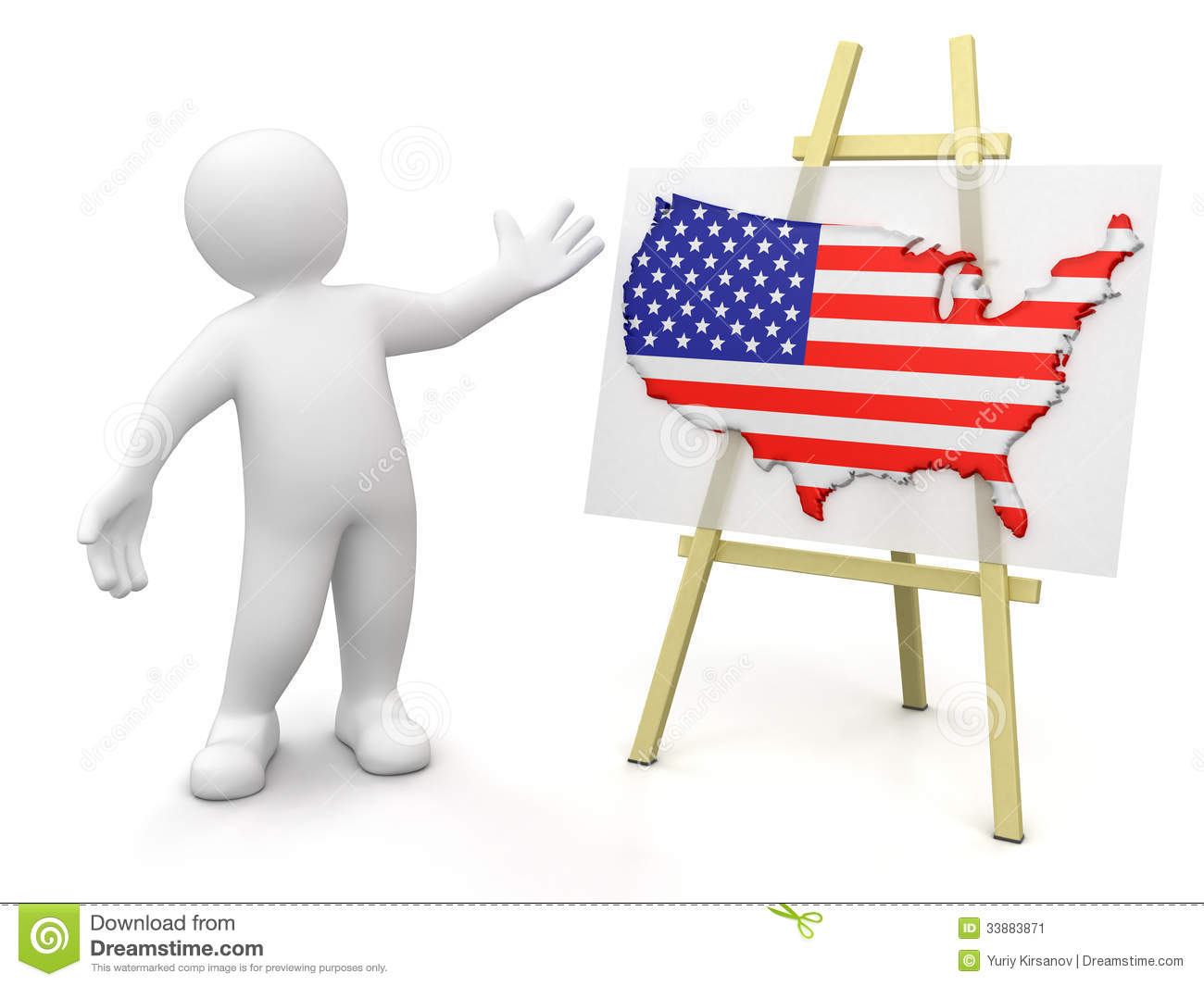 Man And US Map Clipping Path Included Stock Image Image - Man in the us map