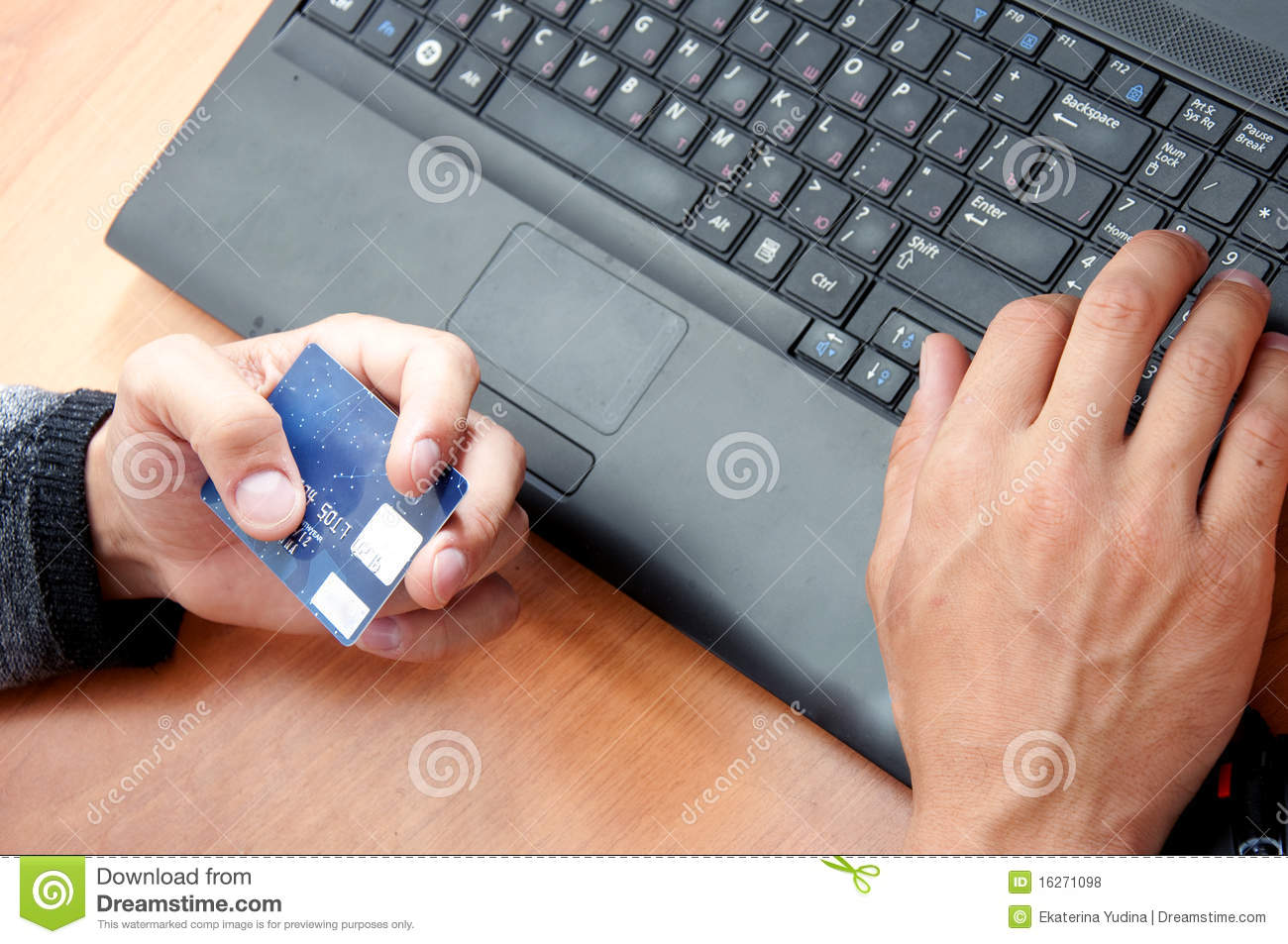 Man using credit card to purchase goods royalty free stock for How to buy goods online