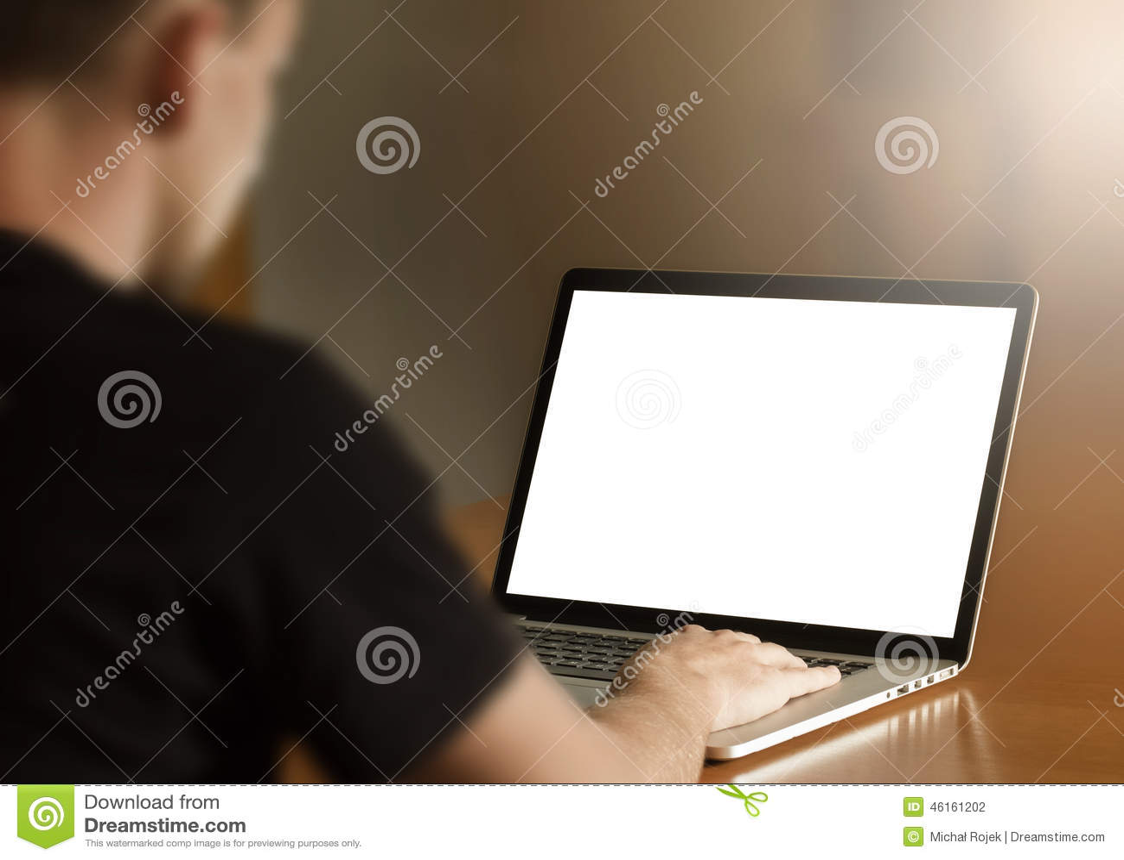 Man using notebook