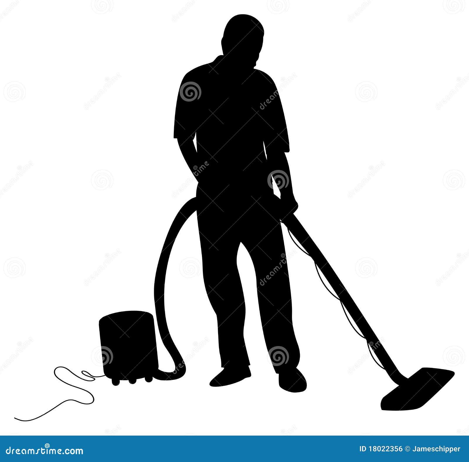 Man vacuuming stock vector. Image of dirty, vacuuming ...