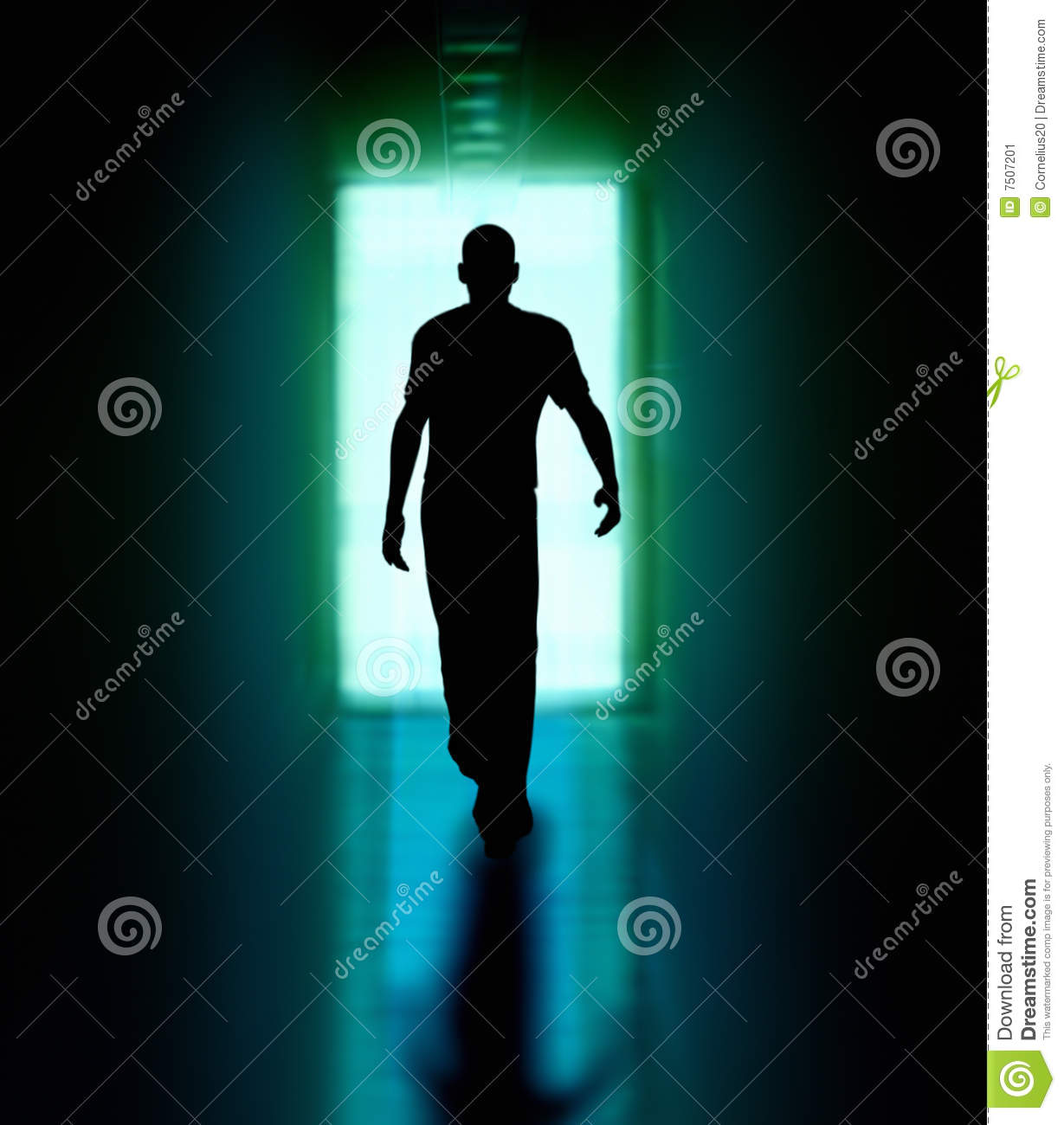 Man Walking To The Door Stock Illustration Image Of Fear