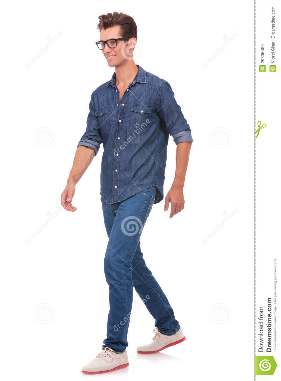 how to walk attractive man