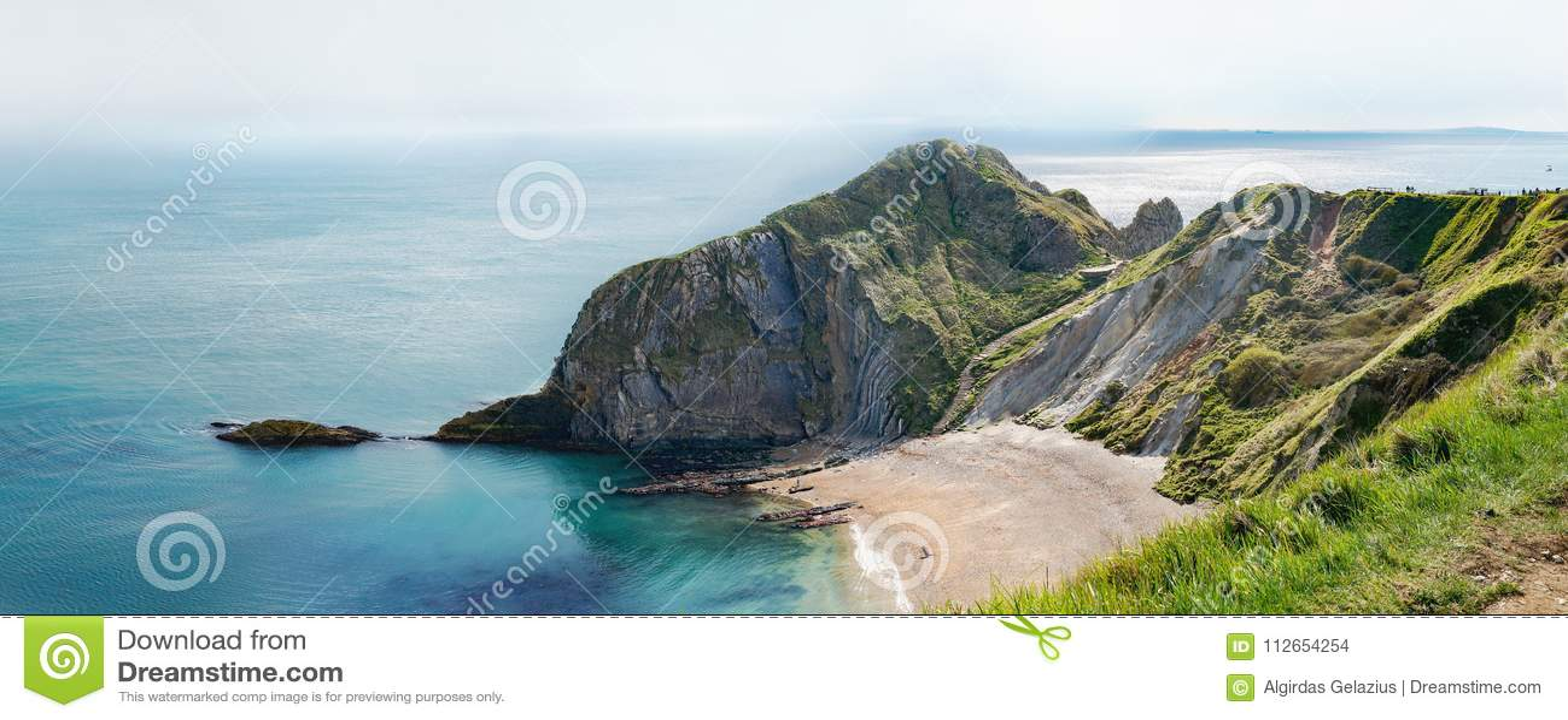 Man of War Bay encloses Man O`War Cove on the Dorset coast