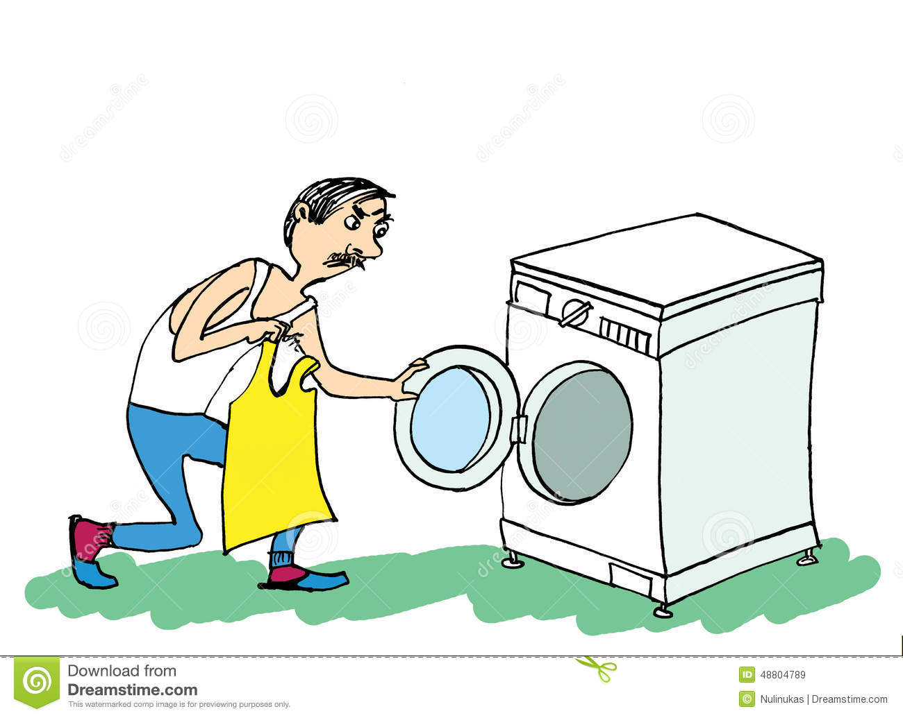 man and washing machine man doing laundry stock. Black Bedroom Furniture Sets. Home Design Ideas