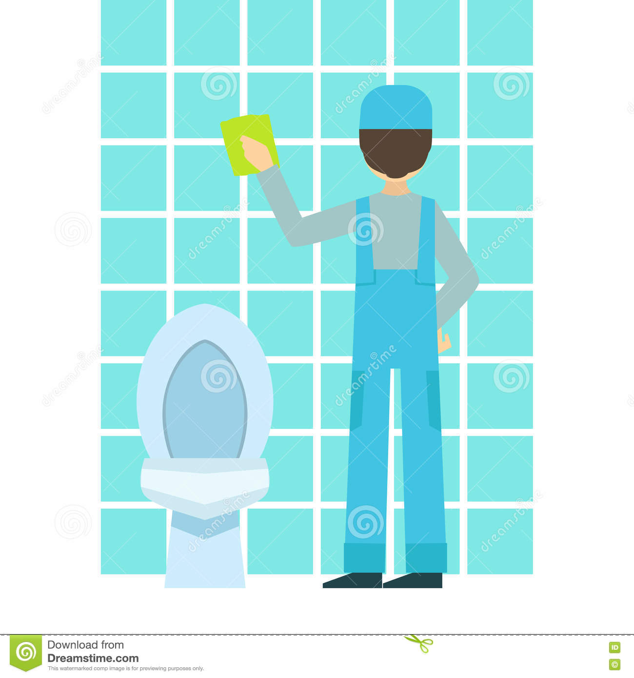 Man washing tiles in bathroom cleaning service - How to professionally clean a bathroom ...
