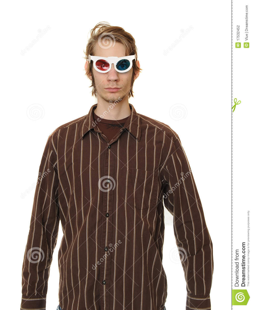 Man Wearing 3D Glasses Stock Photography - Image: 17532452