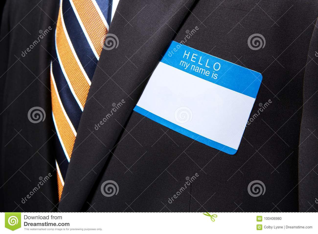Man wearing black business suit and necktie