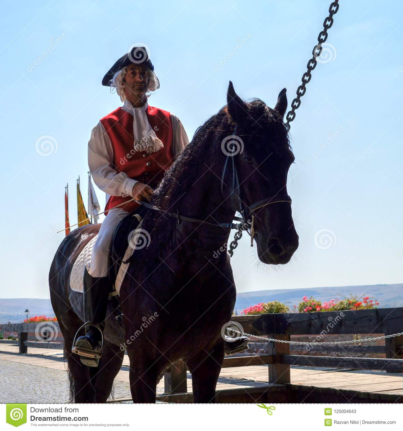 Man Wearing Medieval Costume Riding On A Horse Editorial Stock Photo Image Of Battle Equestrian 125004643