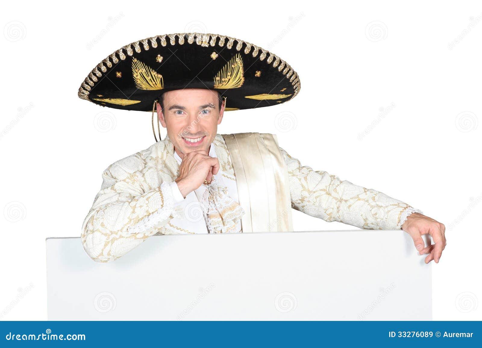 Man Wearing Sombrero Royalty Free Stock Images - Image: 33276089