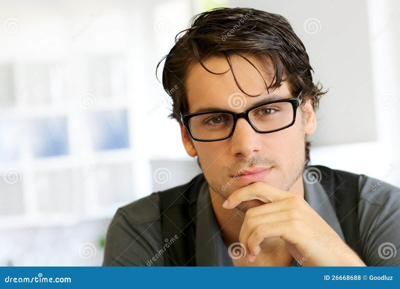 Asian Man Motocycle Glasses
