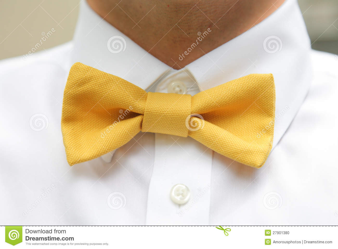 03582afa8e5a Man wearing yellow bow tie stock photo. Image of buttons - 27901380