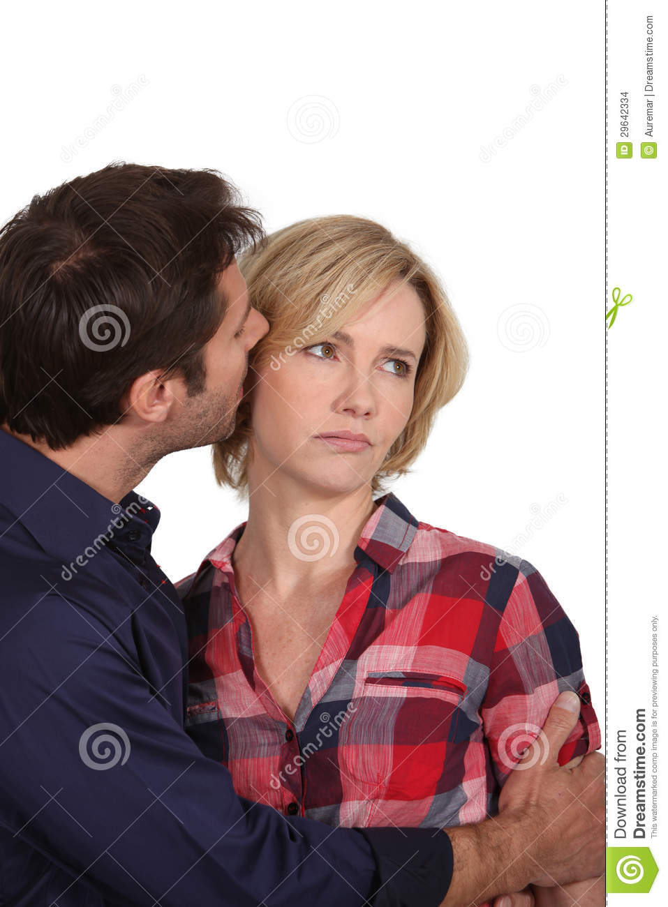 man whispering in womans ear stock photo image 29642334