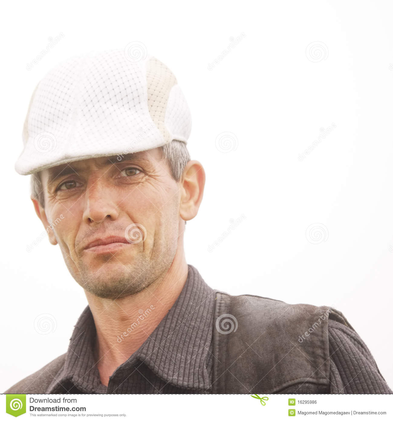 Man in white cap stock photo. Image of caucasian 68dde5dc6aa