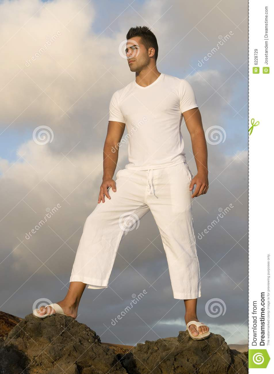 Man With White Clothes On The Vulcan Royalty Free Stock -5852