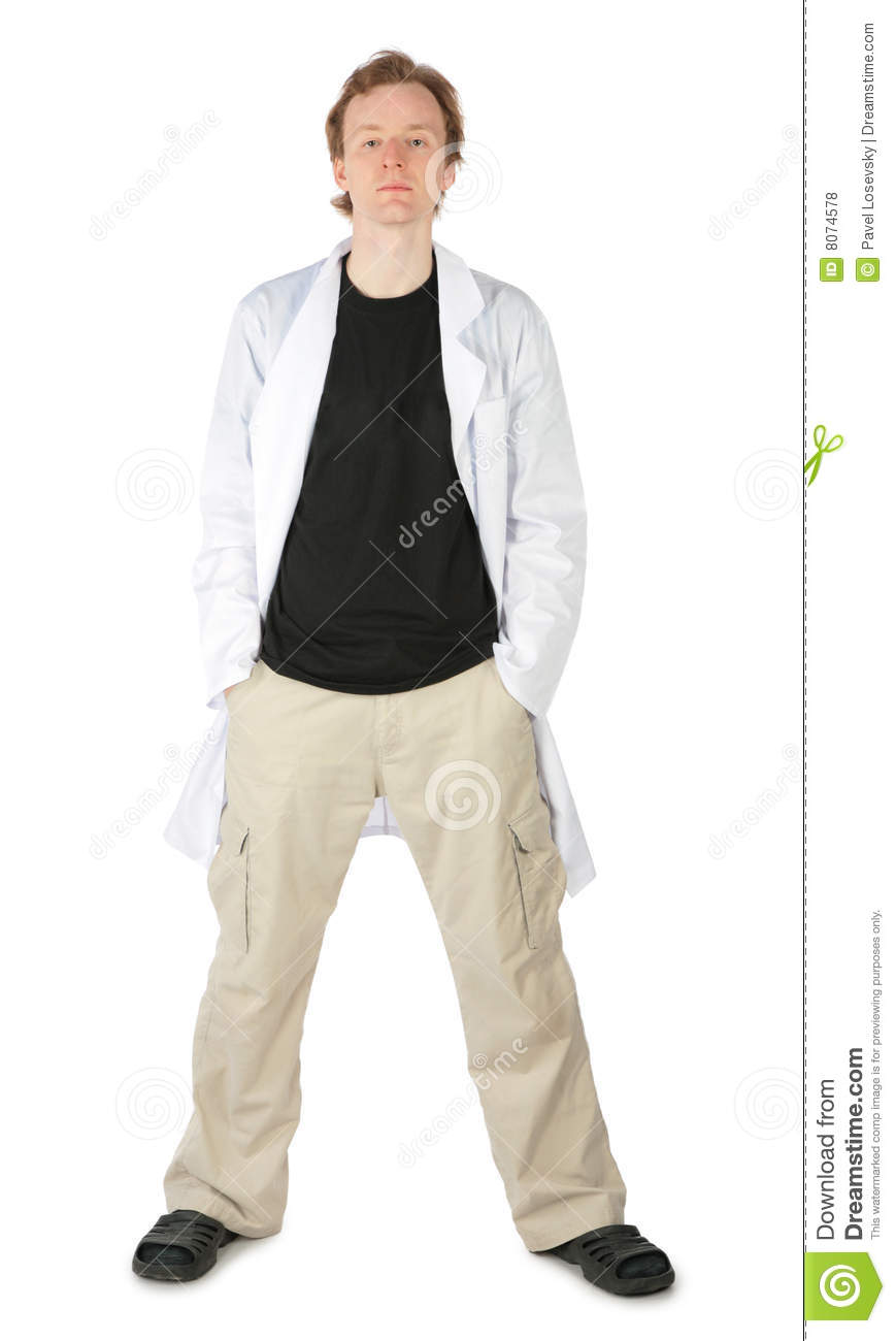 Man in white dressing gown stock photo. Image of medical - 8074578