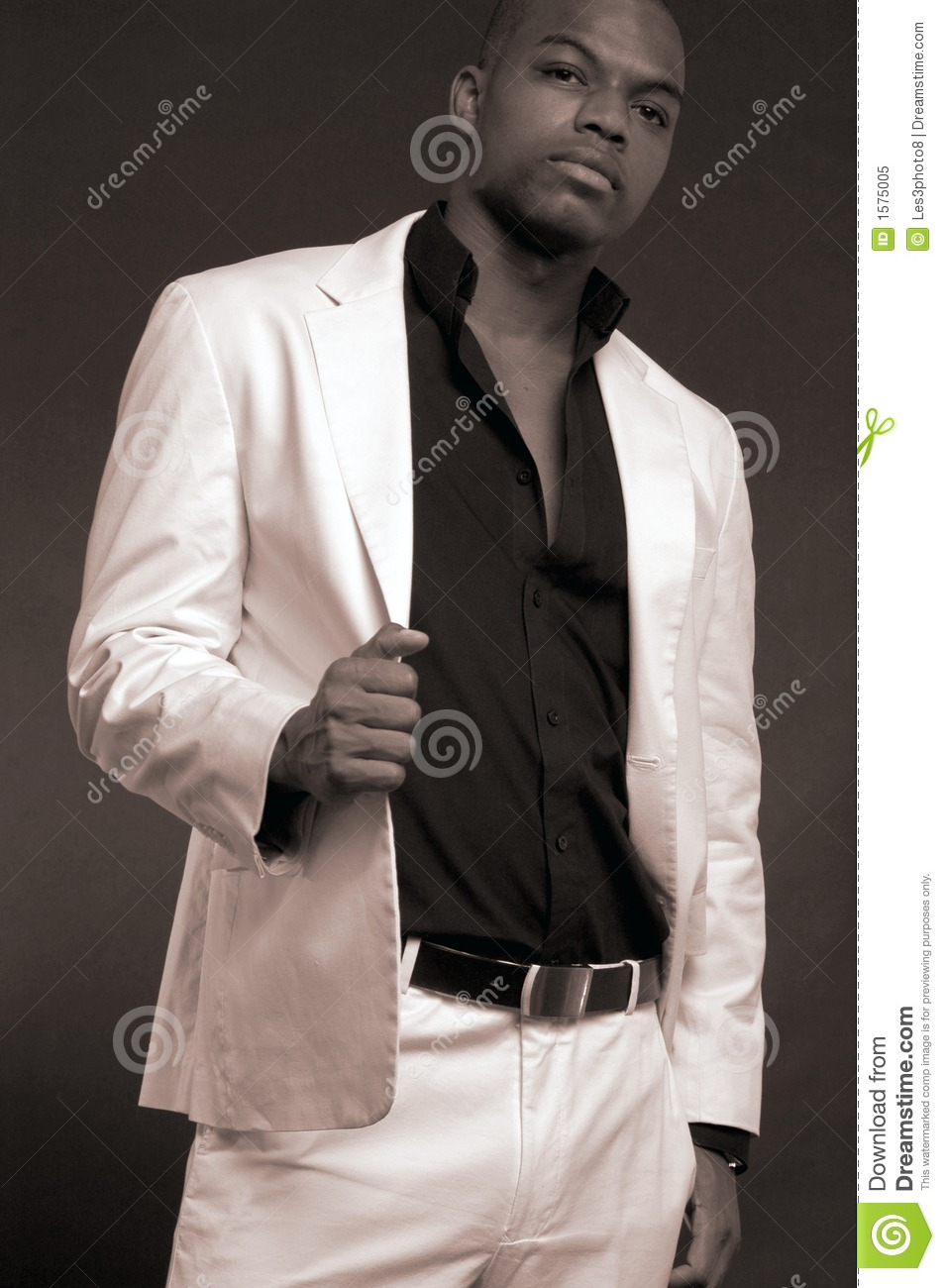 Man In A White Suit Royalty Free Stock Photo - Image: 1575005