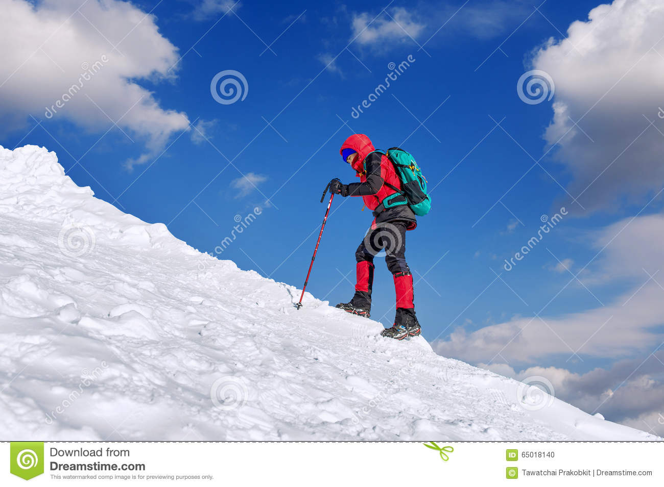 Download The Man In The Winter Journey With A Backpack. Stock Photo - Image of backpacking, india: 65018140