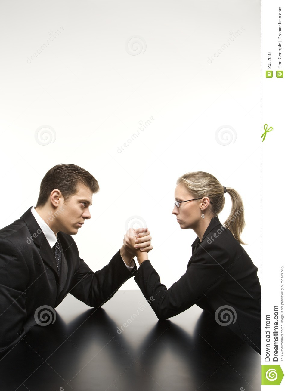 Man And Woman Arm Wrestling Stock Photography Image 2052032