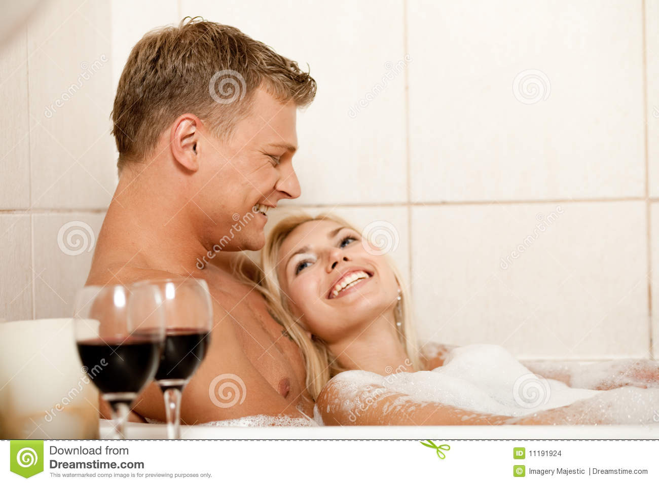Man And Woman In Bath Stock Images - Image 11191924-9446