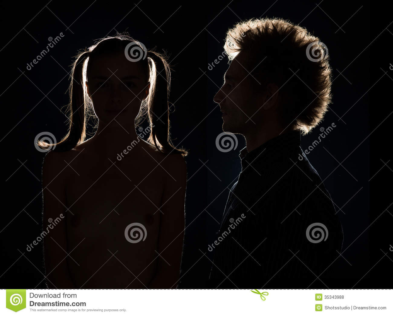 Man and woman in black shadow royalty free stock photos image