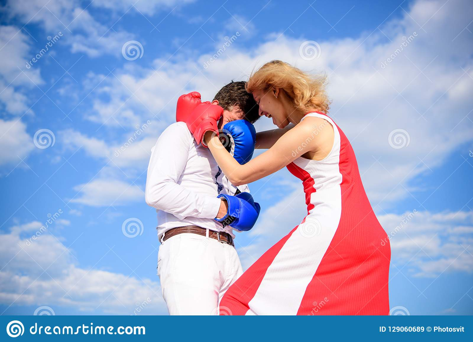 Dating Woman Boxing