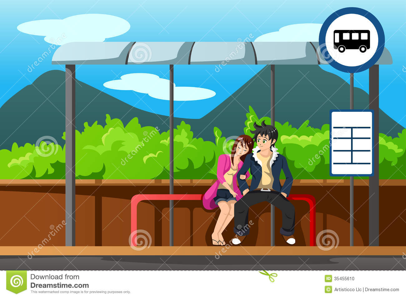 Bus Stop Clipart free