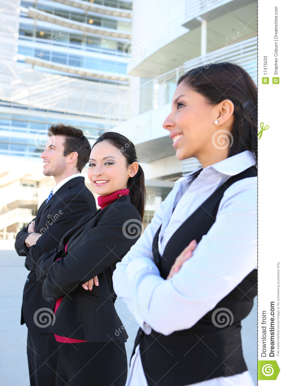 Man And Woman Business Team Stock Image Image Of Female Mexican