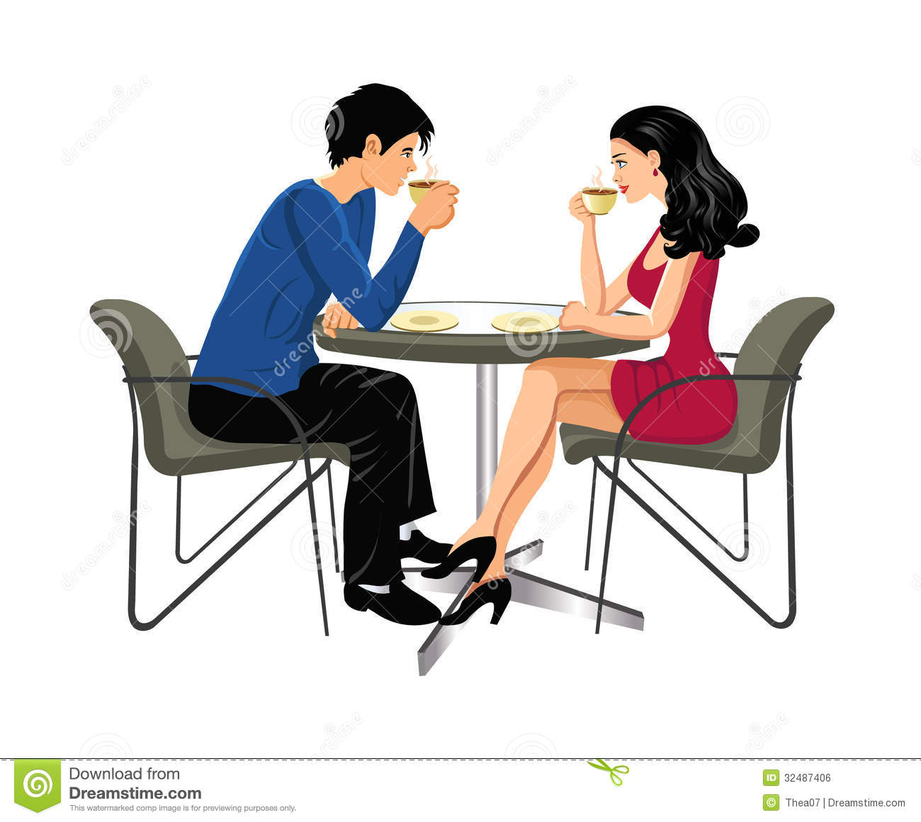 Man And Woman Drinking Coffee Stock Photo Image 32487406