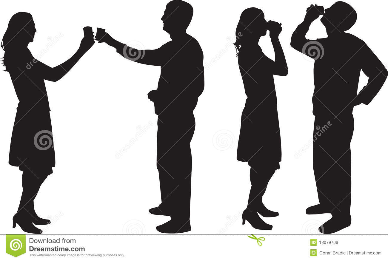 Man And Woman Drinking Silhouette Royalty Free Stock Image - Image ... White Drum Set Silhouette