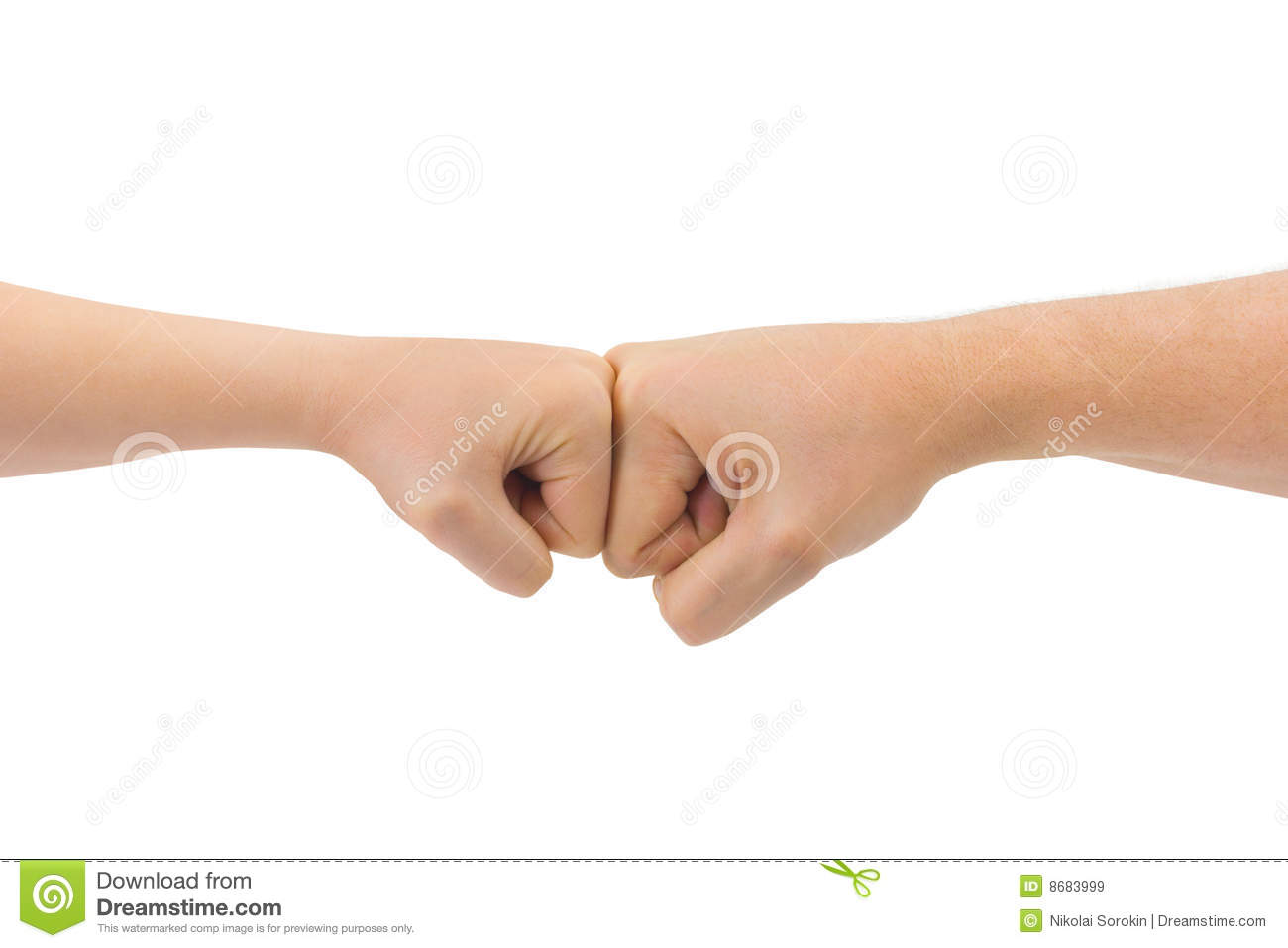 Man and woman fists