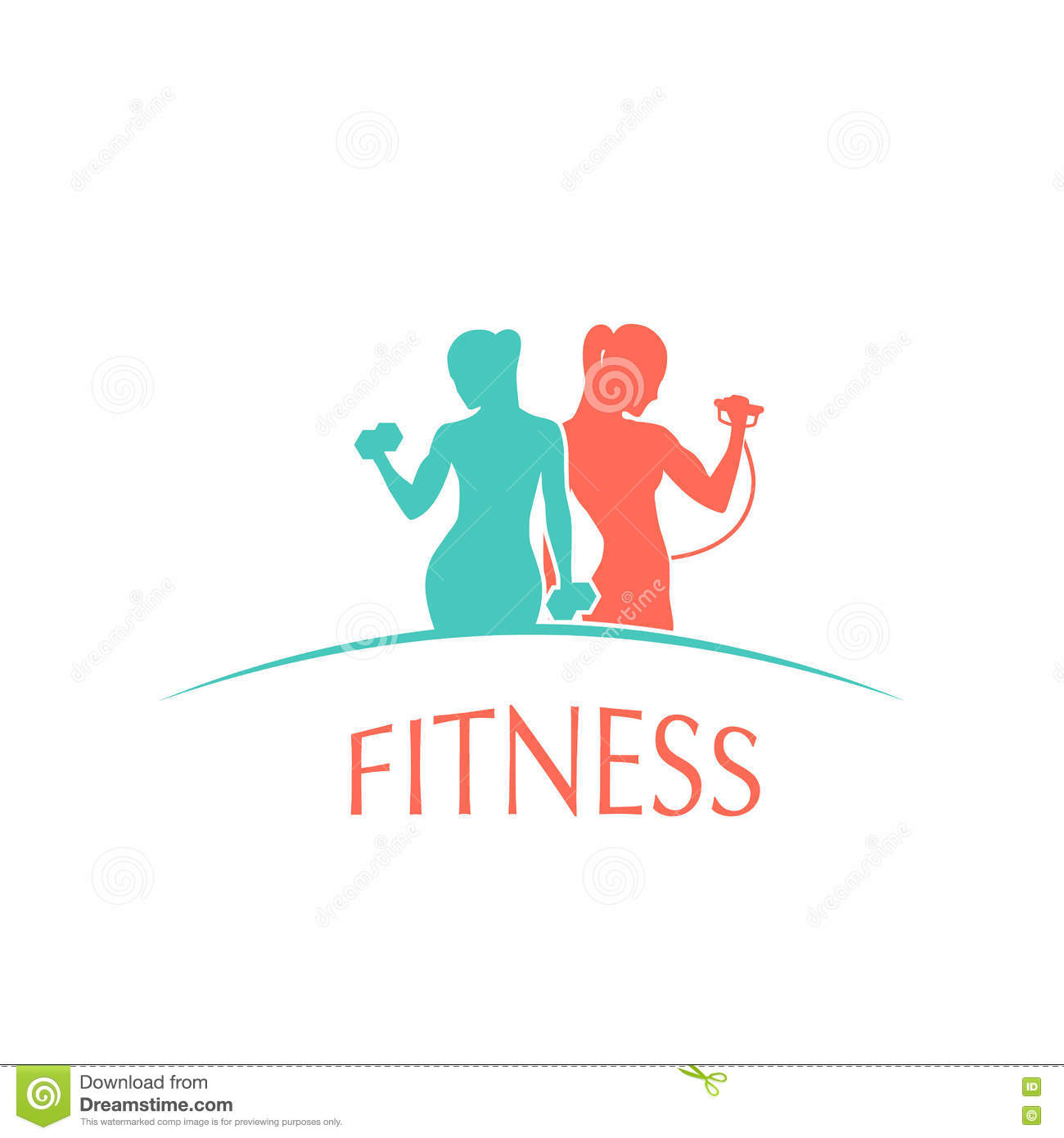 Man and woman of fitness gym silhouette character stock for Free gym layout design